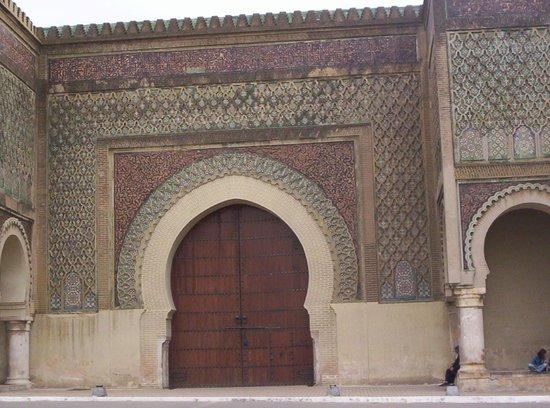 Bab Mansour Gate: Particolare delle decorazioni