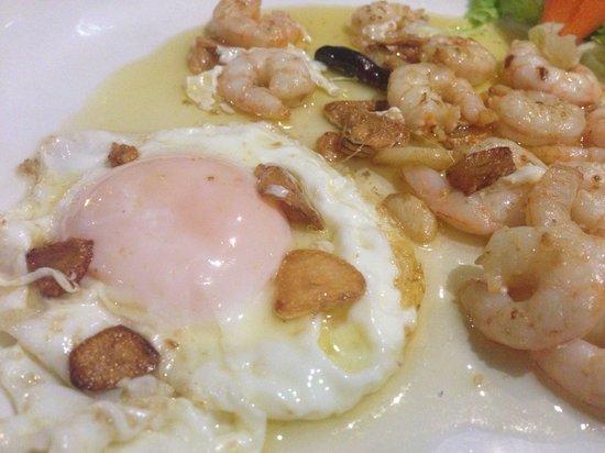 Limonero : Huevos con gambas