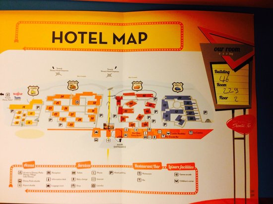 Hotel Map Picture Of Disney S Hotel Santa Fe Coupvray Tripadvisor