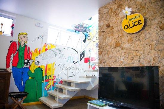 Hostel Alice: Sala de TV