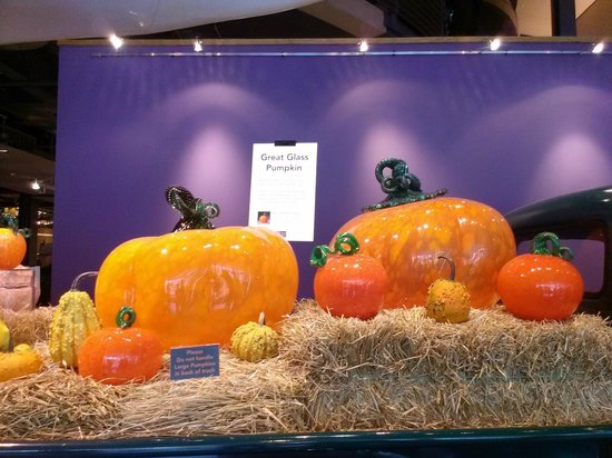 The Corning Museum of Glass: Large Pumpkin display at entrance