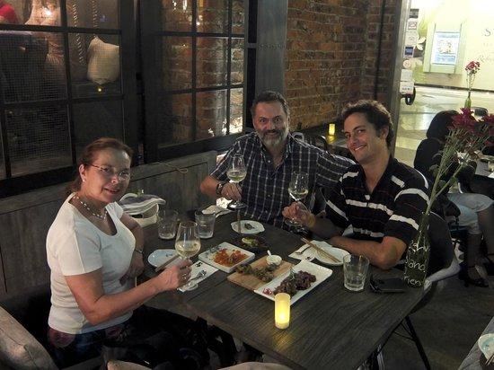 East 8 New York Fusion Tapas + Bar : Enjoying our dinner!