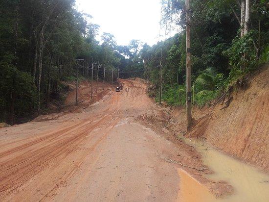 Thongtapan Resort: Straße zum Dorf