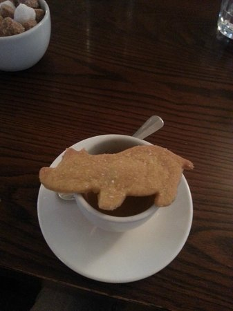 The Ginger Pig : sweet! complimentary biscuit