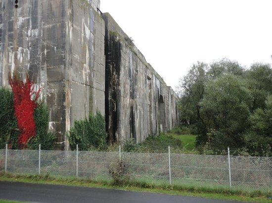 U-Boot Bunker Valentin: Parte externa do Bunker