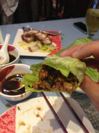 Good Friends: Choi Bao and the pork belly in the background...