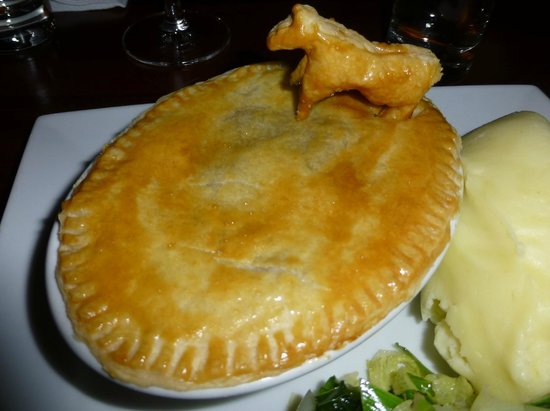 The Cross Keys: Cow Pie (Steak and Ale the night we were there)