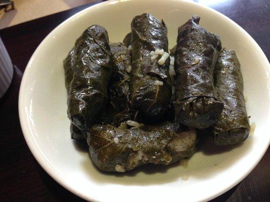 Baalbek : Hoja de uva (arroz y carne de borrego envuelto en hoja de uva)
