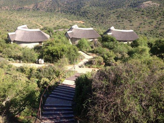 Kuzuko Lodge: Steps down to rooms