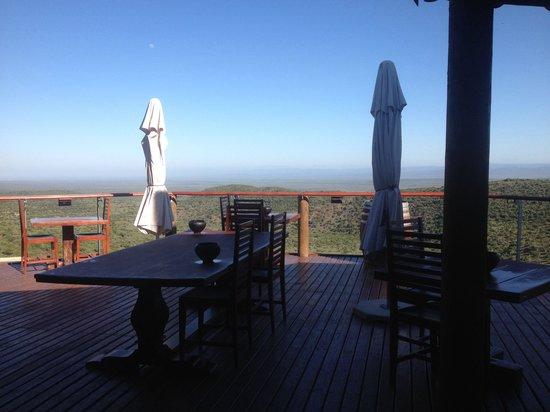 Kuzuko Lodge : The terrace area