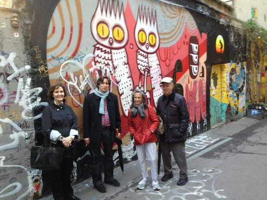 Berlin Jewish Tours: Yoav, my wife Audrey (in the red jacket) and our friends.