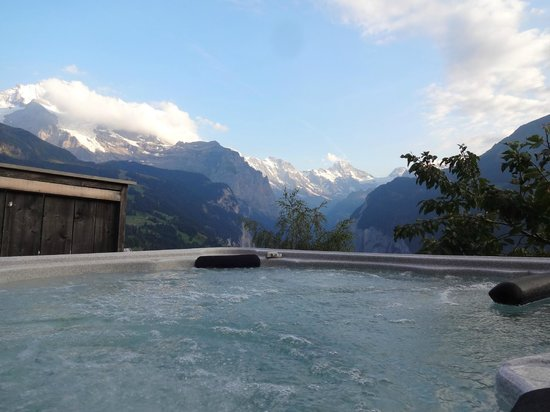 Hotel Bellevue : view from jaccuzi