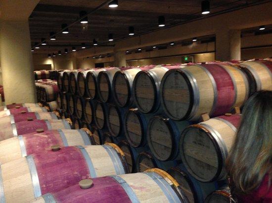 Robert Mondavi Winery: WIne cellar for reds