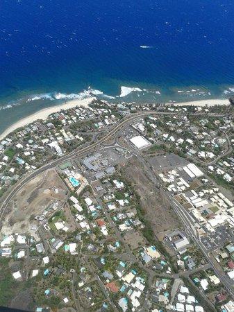 Résidence l'Archipel : vue aérienne de l'hotel (helico)