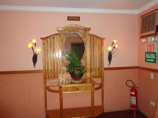 Hotel Las Margaritas: Saida do elevador