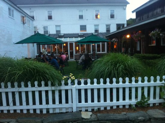 Summer outdoor dining at Phelps Barn Pub