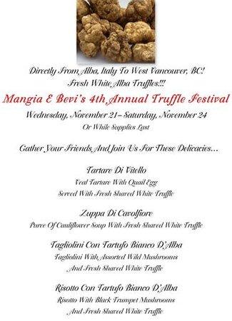 Mangia E Bevi: Truffle festival
