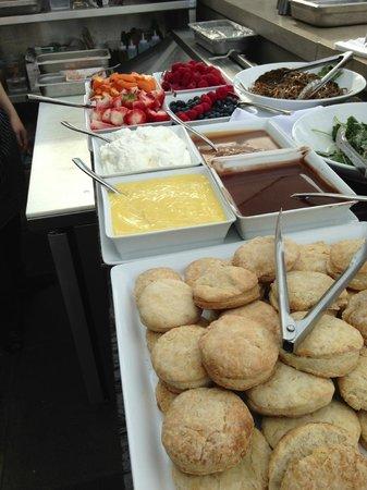 The Beverley Hotel: buffet set up