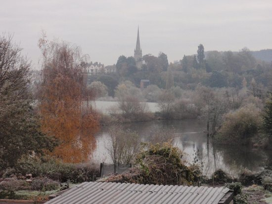 The Bridge House: View to Ross on Wye from the Bedroom