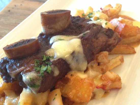 The Beverley Hotel: surf and turf poutine