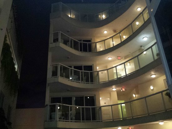 Bentley Hotel South Beach: Night time view across from my room