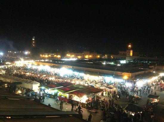 Stalls in the Square : The Night Market of Marrakech (Jemaa El Fna)