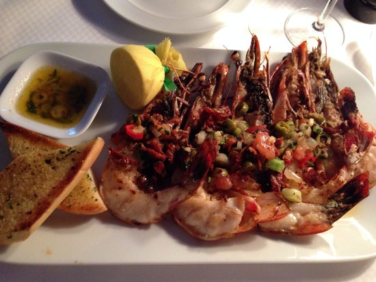 Fischereihafen-Restaurant: Black tiger prawns