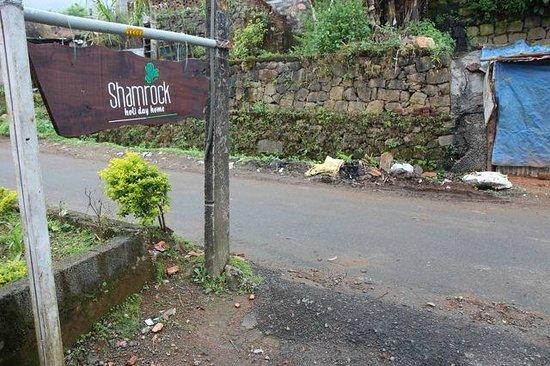 Shamrock : The lovely sign and surrondings....