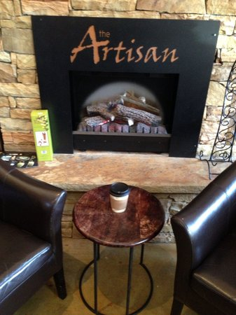 The Artisan Gourmet Market: By the fire.