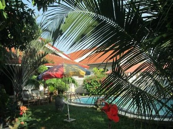 Serendib Guest House : Garden and pool