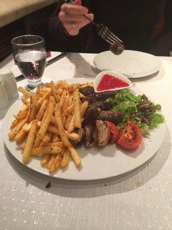 National Hotel Jerusalem: Kebabs.