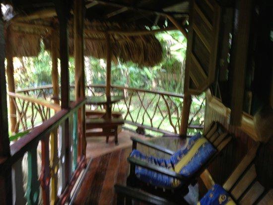 Hotel La Costa de Papito: Bungalow Porch