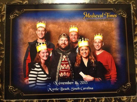 Medieval Times: Picture with His majesty, the King,