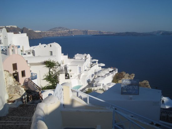 "Armeni Village Rooms & Suites: Hotel from the ""main drag"" in Oia"