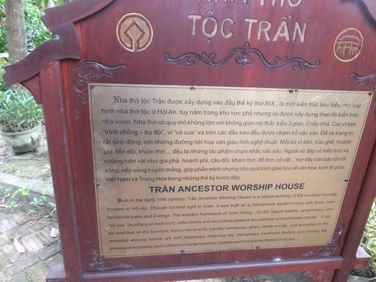 The Tran Family Home and Chapel: Sign