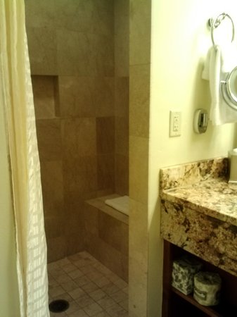 The Limelight Hotel: Marble tile shower