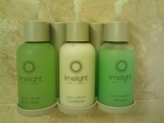 The Limelight Hotel: Body wash/shampoo/conditioner