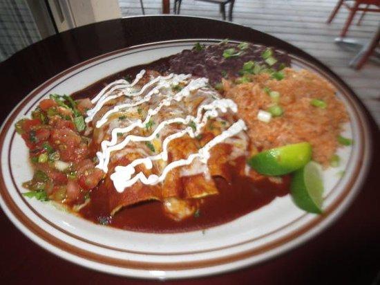 Sharky's Cantina : enchiladas
