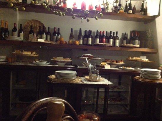 Caffe Novecento: La exhibicion de postres
