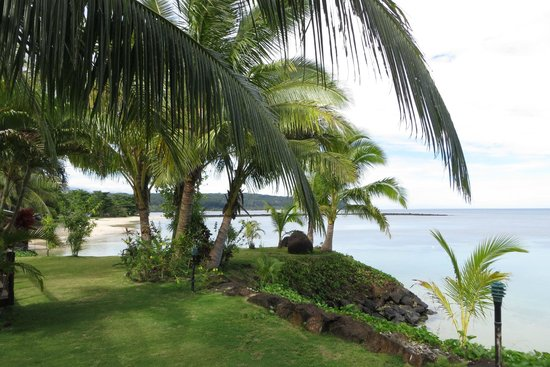 Le Lagoto Resort & Spa : view from our Beachfront Fale