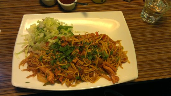MyLahore: chicken desi stir fry with noodles