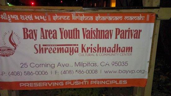 Shreemaya Krishnadham: Sign from Corning Way