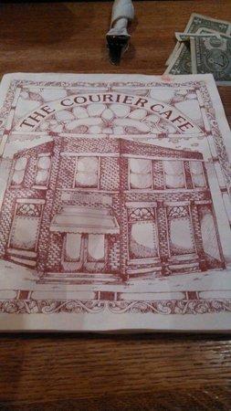 The Courier Cafe: Menu..