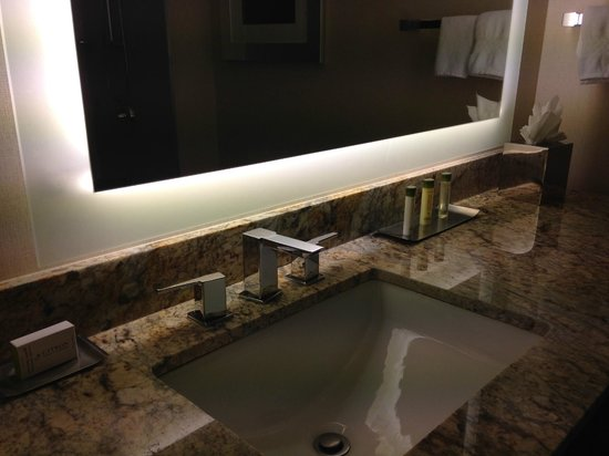 DoubleTree by Hilton San Francisco Airport : The Bathroom aminities (counter)