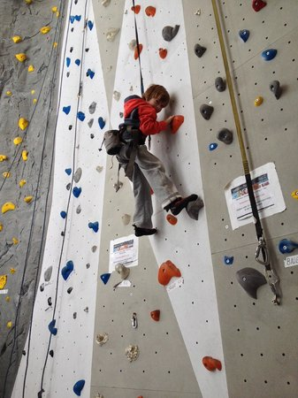 Elevation Place climbing wall, Canmore