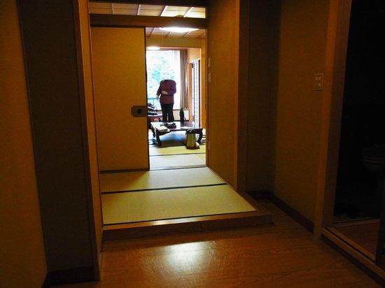Shikanoyu Hotel : 客室玄関から