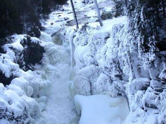 Dorwin Falls Park : Chutes de Rawdon hiver