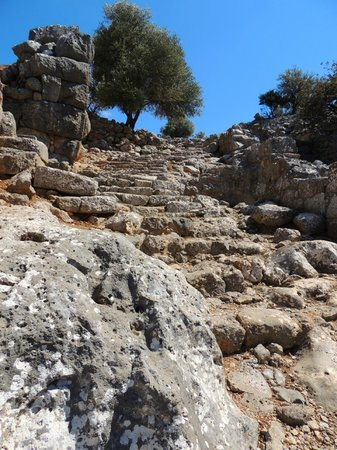 Lato: The stepped 'street' leading up to the agora