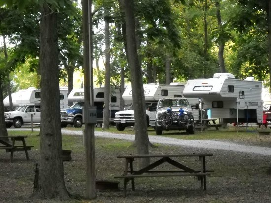 Gettysburg Campground: View of our campsite