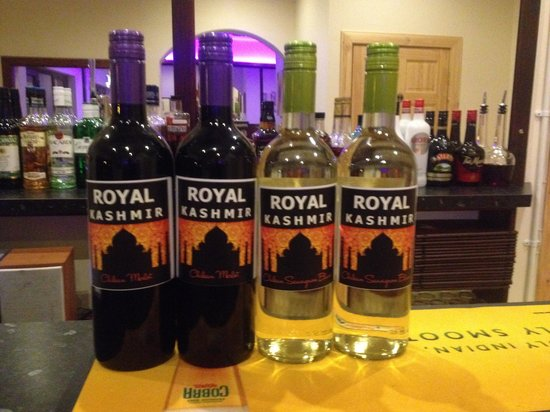 Royal Kashmir: House wine
